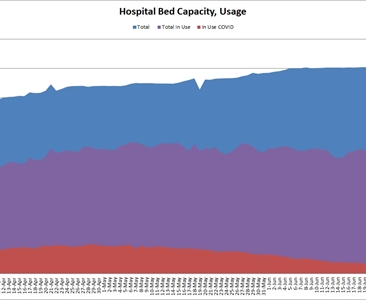 COVID-19 hospital bed usage is highest since June 19