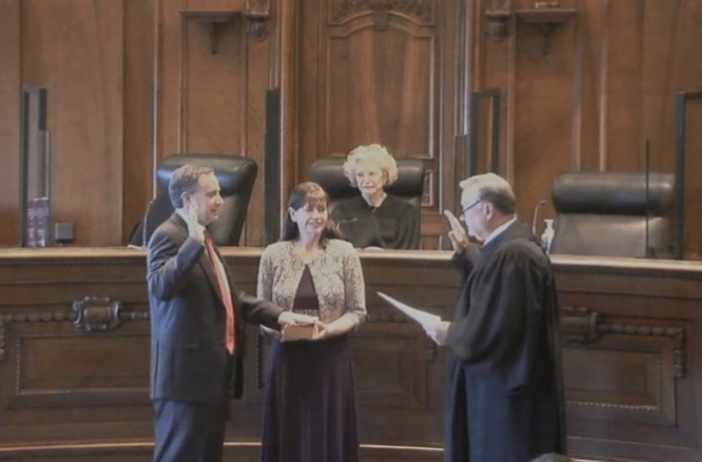 Newly elected Supreme Court justice sworn in