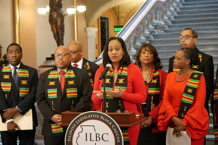 Black caucus supports Pritzker's budget plan, calls for added minority community investment